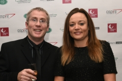LtoR Stewart Ratcliffe and Beth Doherty. Gloucestershire Sports Awards 2018 Cheltenham Racecourse, Evesham Rd, Cheltenham.