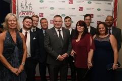 Goals Beyond Grass, Cheltenham Powerchair Football Club and The Pied Piper Appeal. Gloucestershire Sports Awards 2018 Cheltenham Racecourse, Evesham Rd, Cheltenham.