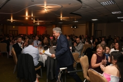 John Inverdale takes to the stage. Gloucestershire Sports Awards 2018 Cheltenham Racecourse, Evesham Rd, Cheltenham.