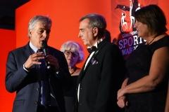 John Iverdale talks to Abbeymead Rovers. Gloucestershire Sports Awards 2018 Cheltenham Racecourse, Evesham Rd, Cheltenham.